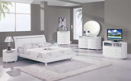 White Bedroom Furniture Ideas For A Modern Bedroom - Small Room .