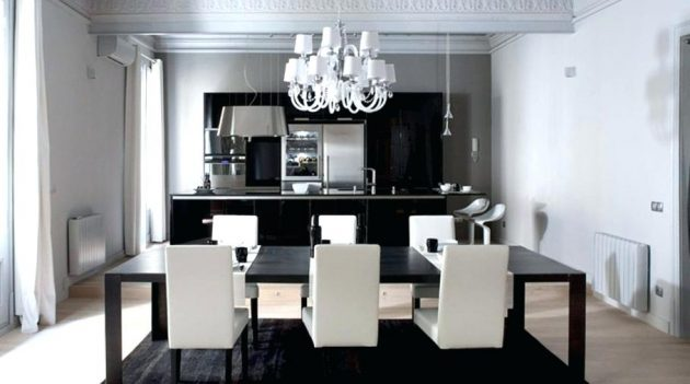 White Chandelier In The Dining Room- 12 Extravagant Ide