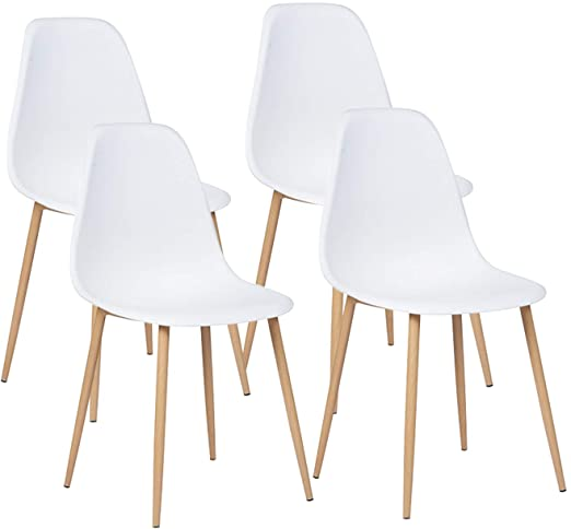 Amazon.com - GreenForest Dining Chairs Set of 4, Mid Century .