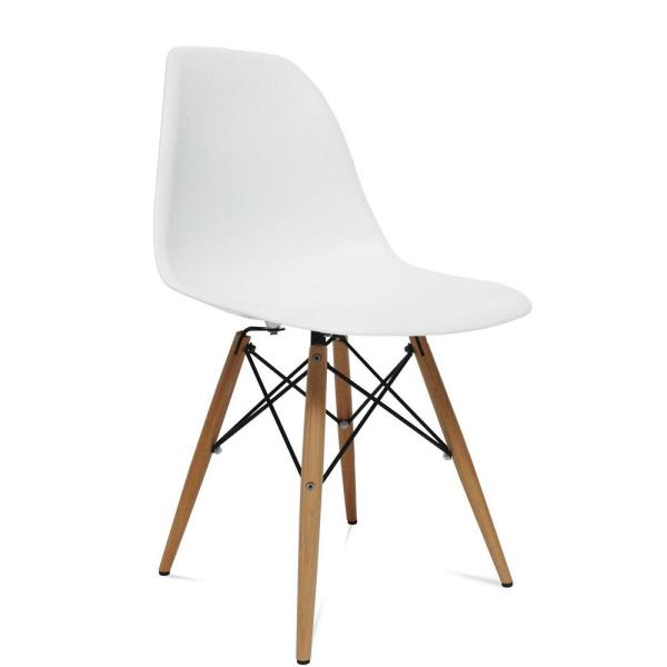 White Wood Leg Side Dining Chair FMI2012-WHITE - The Home Dep