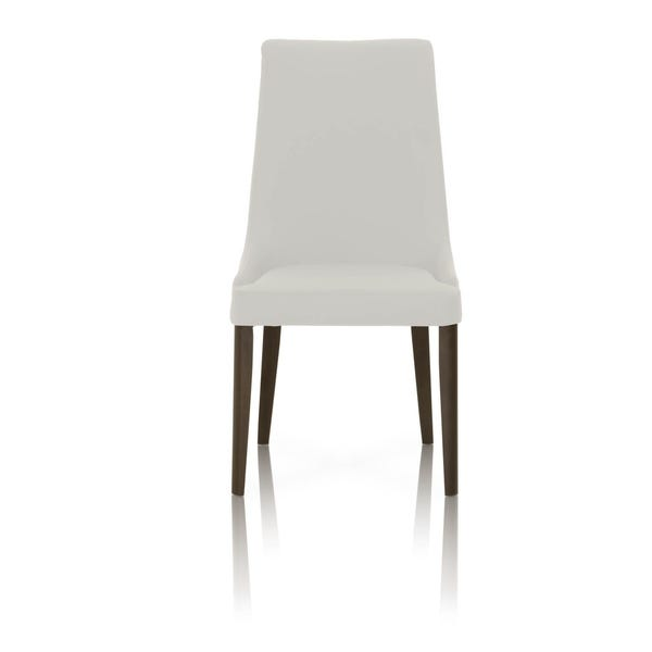 Shop Dining Chairs With Sleek Wooden Legs Set of 2 White and Brown .