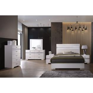 Acme United Eastern King Size Bedroom Furniture 1pc Bed High Gloss .