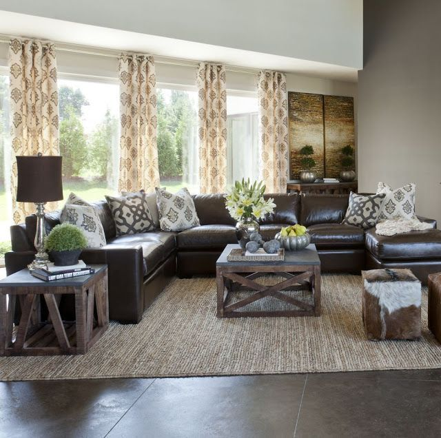 White Leather Sectional Sofa Decorating Ideas   Home, living, New .