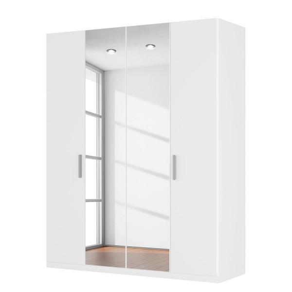 Harvard 4 Hinged Door White Centre Mirrored Wardrobe Product Code .