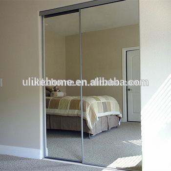 Paint White Aluminum Sliding Mirror Wardrobe Doors - Buy Aluminium .