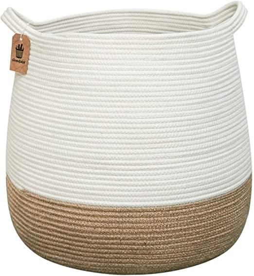 "Amazon.com: Goodpick Wicker Laundry Basket | 17.71"" x 17.71""Cute ."