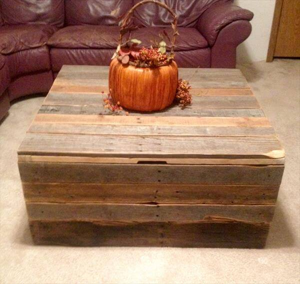 DIY Pallet Coffee Table - Storage Trunk – 101 Palle