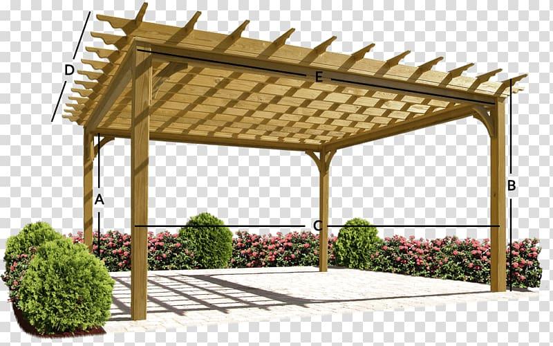 Brown wooden canopy frame , Pergola Gazebo Wood Deck Patio, wood .