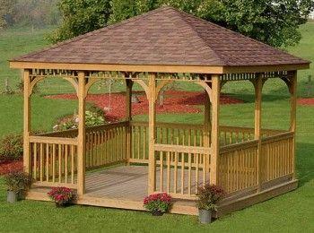 Tricks for Build a Wooden Gazebo | Arka bahçeler, Dış mekan odalar