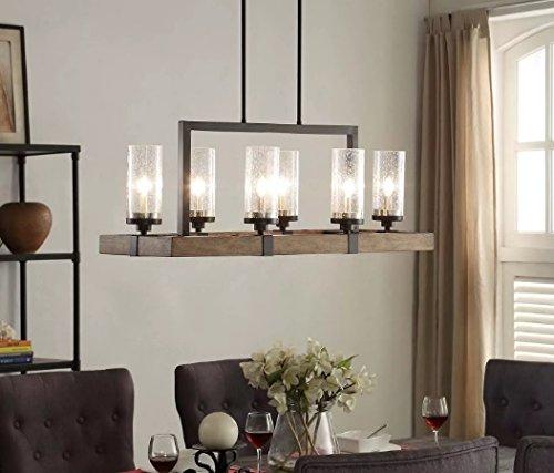 Vineyard 6-Light Metal and Wood Chandelier - - Amazon.c