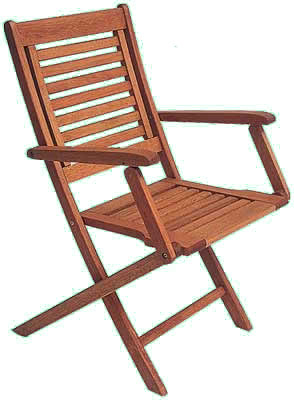 Eucalyptus Wood Folding Chair with Arms [BT224-IntHm] - $104.00 .