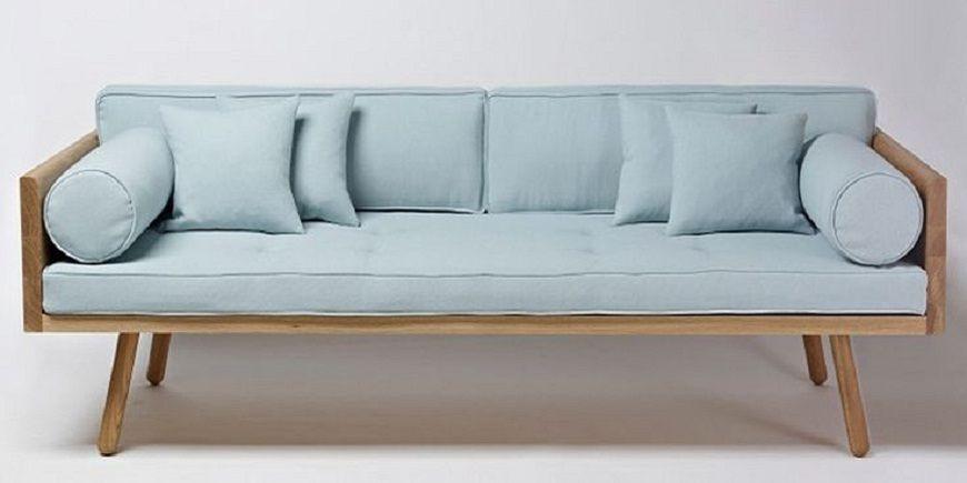 Wood Frame Sofa with Loose Cushions | Sofa wood frame, Sofa frame .