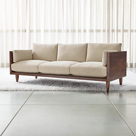 Sherwood 3-Seat Exposed Wood Frame Sofa + Reviews | Crate and Barr