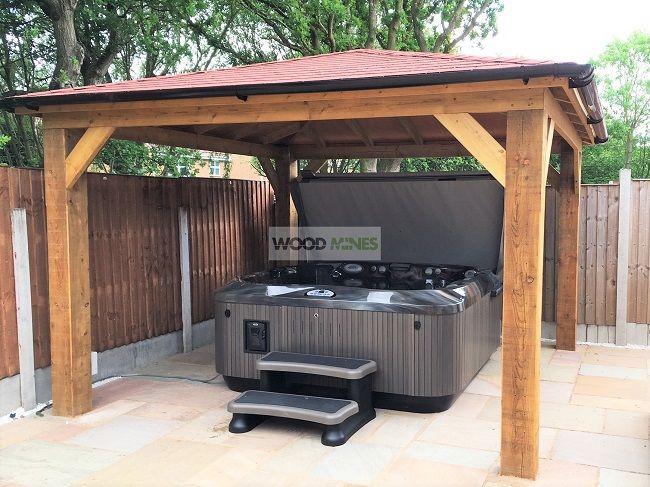2.4m 'Regal' Garden Gazebo | Hot tub gazebo, Wooden gazebo .