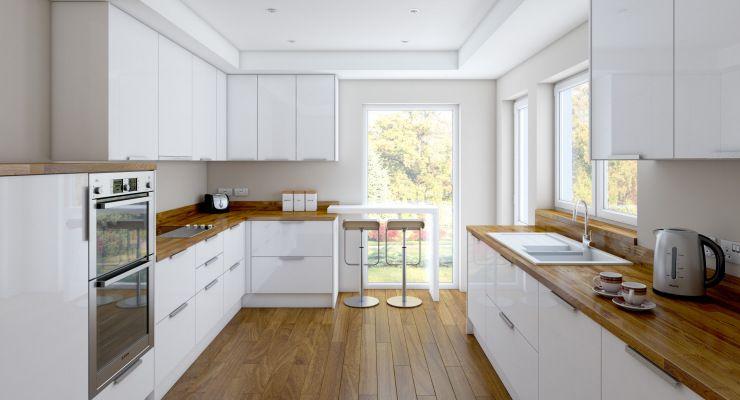 25 Remarkable Galley Kitchen Ideas | Wooden countertops kitchen .