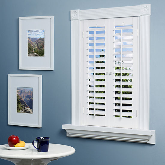 JCPenney Home™ Faux-Wood Plantation Shutters - 2 Panels-JCPenney .