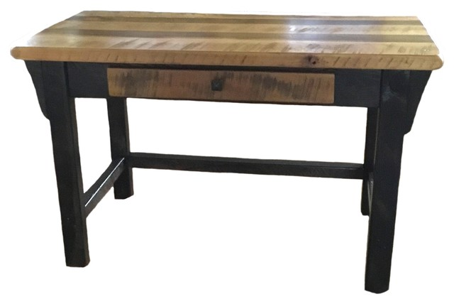 Rustic Reclaimed Barn Wood Writers Desk with Drawer - Rustic .