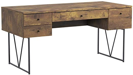 Amazon.com: Analiese 4-Drawer Writing Desk Antique Nutmeg and .