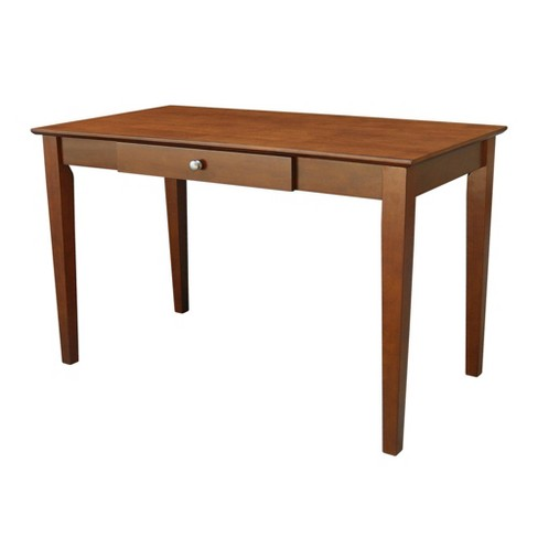 Solid Wood Writing Desk With Drawer Brown - International Concepts .