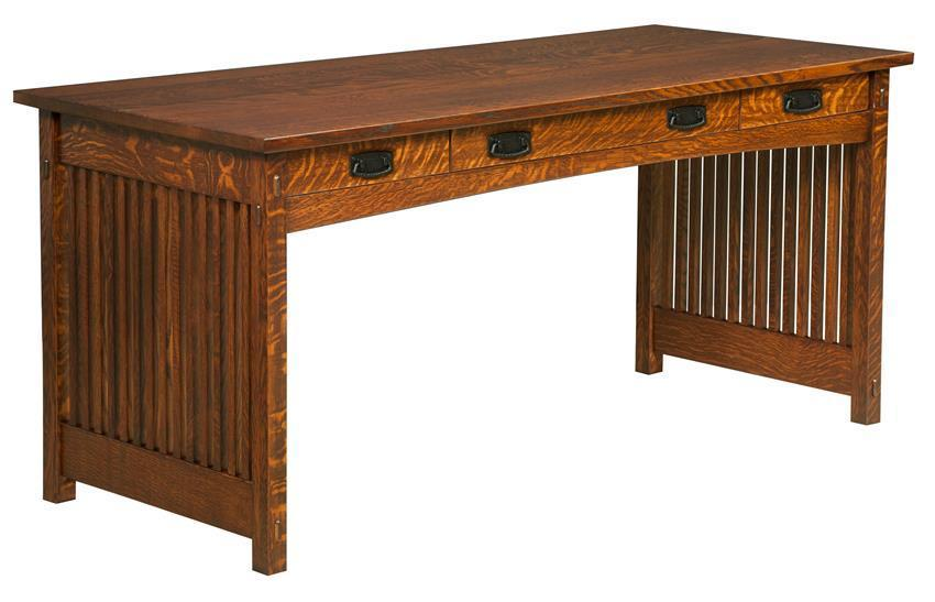 Quality Amish Solid Wood Writing Desk by DutchCrafters Amish Furnitu