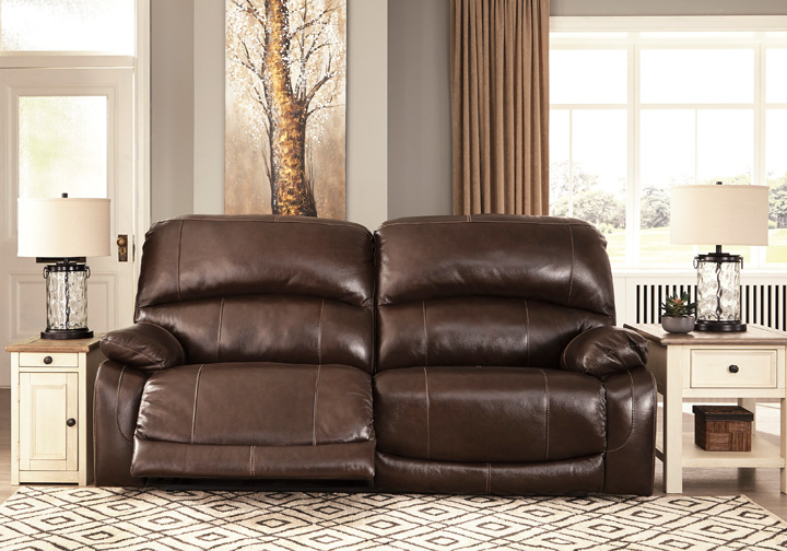 Hallstrung Chocolate Power 2-Seat Reclining Sofa w/ Adjustable .