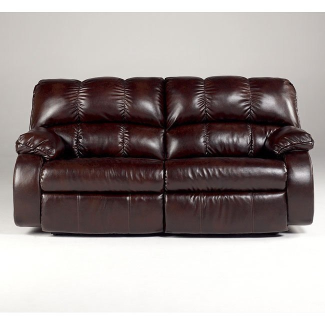 Knockout DuraBlend - Redwood 2-Seat Reclining Sofa Signature .