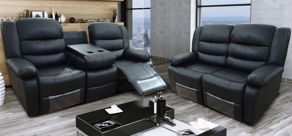Contemporary 3 seater recliner leather sofa – worth to spend money .