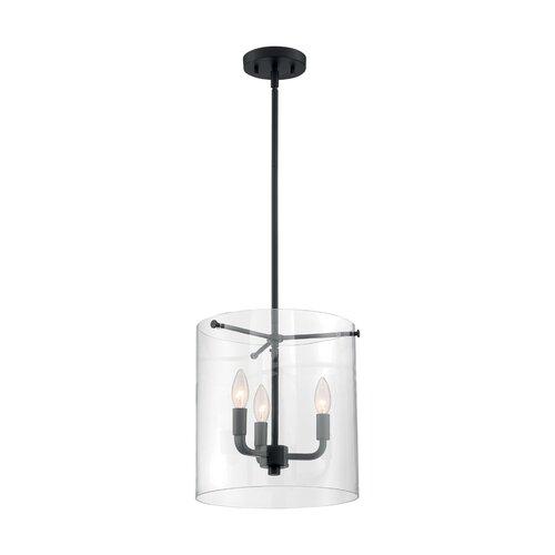 Ebern Designs Waveland 3 - Light Lantern Cylinder Pendant | Wayfa
