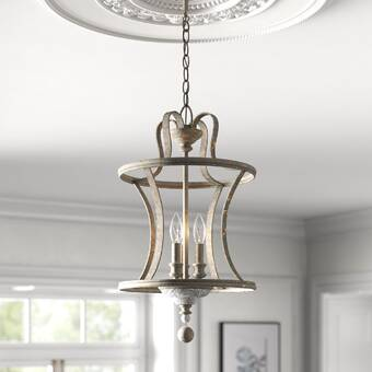 Lark Manor Armande 3 - Light Lantern Cylinder Pendant & Reviews .