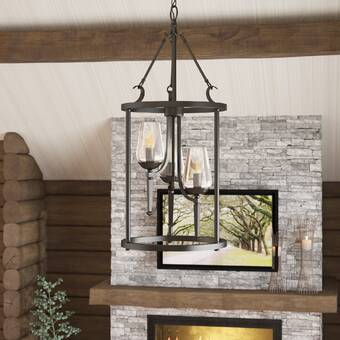 Loon Peak® 3 - Light Lantern Cylinder Pendant & Reviews | Wayfa