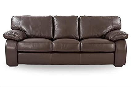 Alamenti Sofia 3-Seater Leather Sofa (Brown): Amazon.in: Electroni