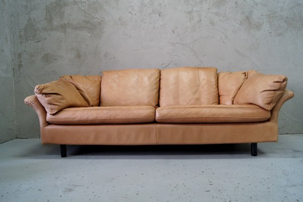 Vintage Swedish 3-Seater Leather Sofa from Dux, 1970s for sale at .