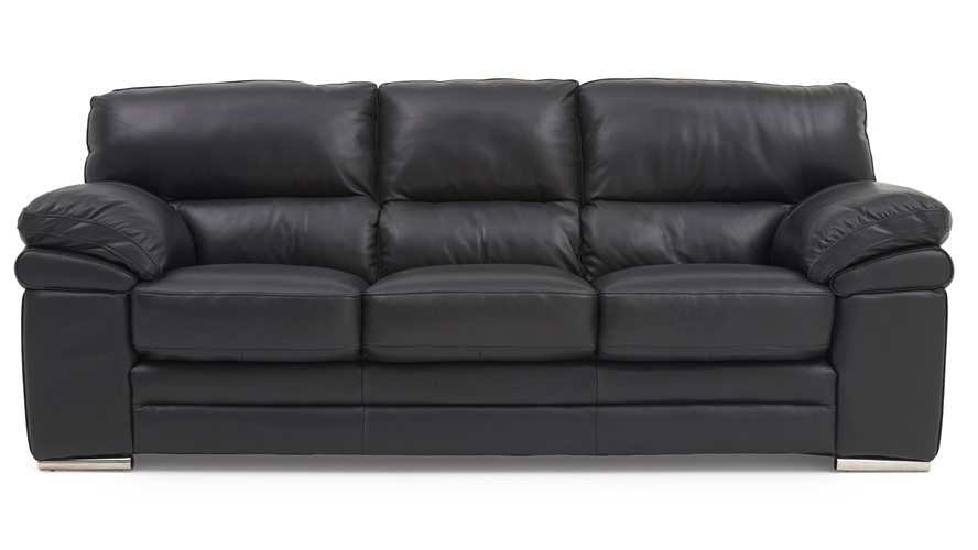 Aldo Leather 3 Seater Sofa | Sterling Furnitu