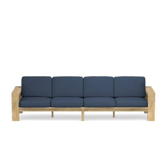 Larnaca Outdoor Teak Sofa, 4-Seat | Williams Sono