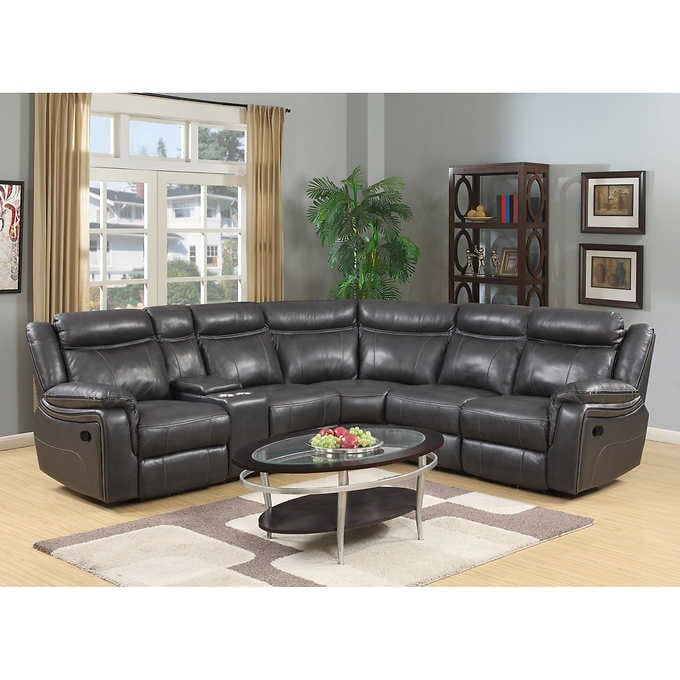 Lindell 6-piece Top Grain Leather Reclining Section