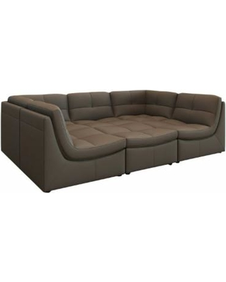 6 Piece Leather Sectional So