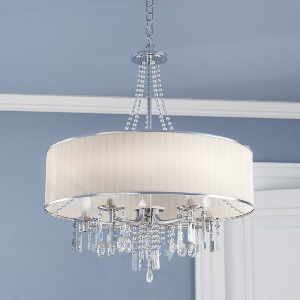 Willa Arlo Interiors Abel 5-Light Drum Chandelier & Reviews | Wayfa