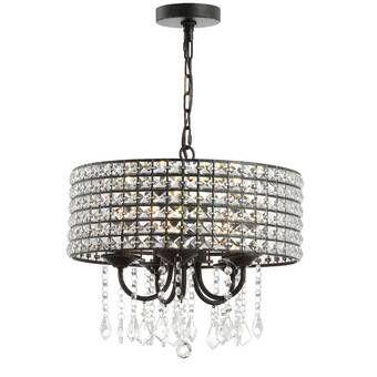 Albano 4-Light Crystal Chandelier | Adjustable pendant light .