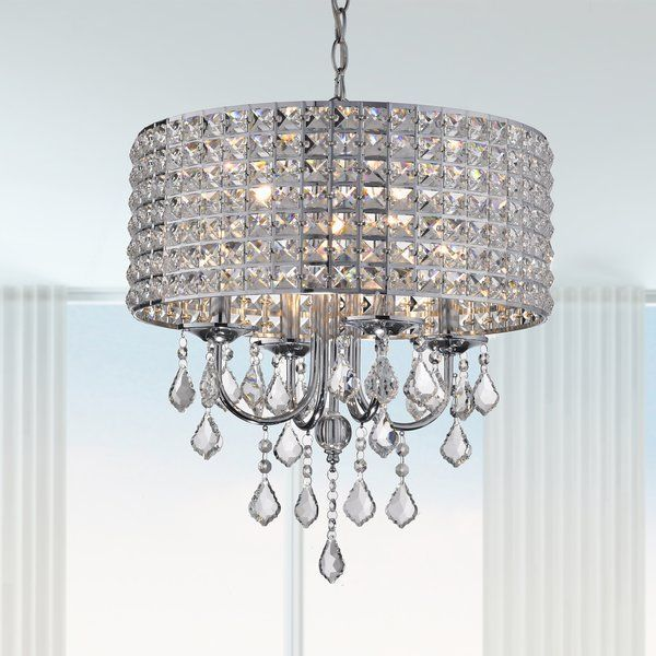 Albano 4-Light Crystal Chandelier (With images) | Crystal .