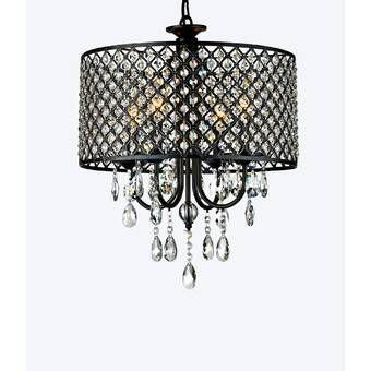 Albano 4 - Light Unique Drum Pendant | Round crystal chandelier .