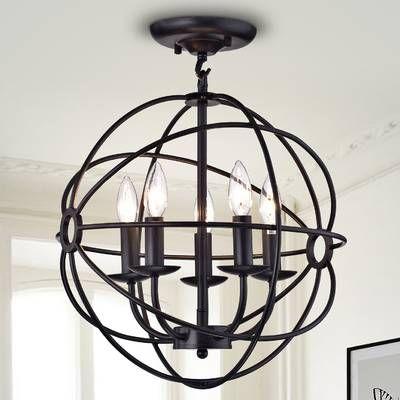 Alden 3 - Light Unique / Statement Globe Chandelier   Globe .