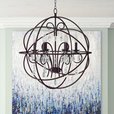 Alden 6 Light Globe Chandeliers in 2020 | Globe chandelier, Globe .