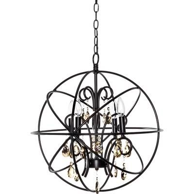 Freeman 6-Light Globe Chandelier | Globe chandelier, Globe lights .