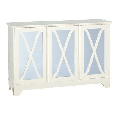 Lark Manor Ames Sideboard Color: Antique White | Mirrored .