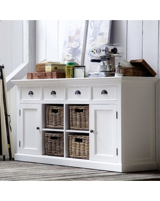 """Get This Deal on Amityville 63"""" Wide 4 Drawer Sideboard Beachcrest ."""