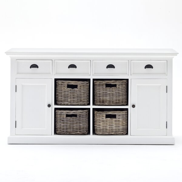 """Beachcrest Home Amityville 63"""" Wide 4 Drawer Sideboard & Reviews ."""