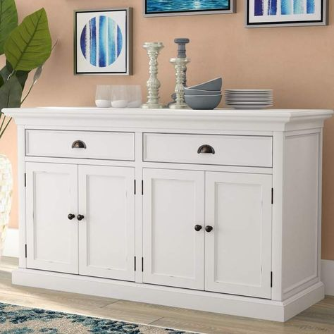 "Beachcrest Home Amityville 57.09"" Wide 2 Drawer Wood Sideboard ."
