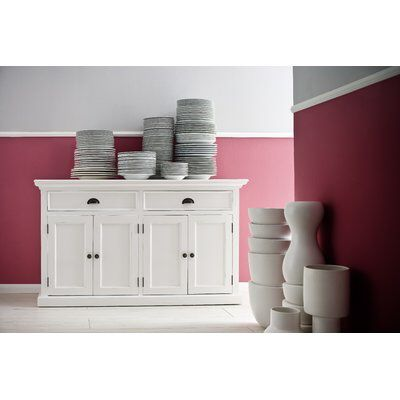 Amityville Wood Sideboard | White sideboard buffet, White buffet .