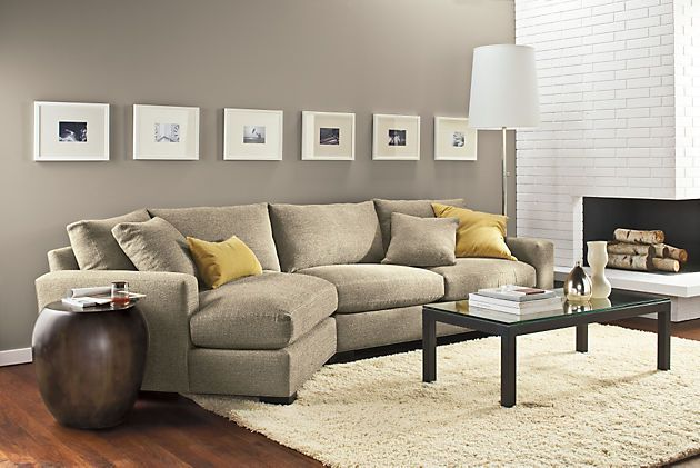 Room & Board - Metro Sofa with Angled Chaise - Modern Chaise Sofas .