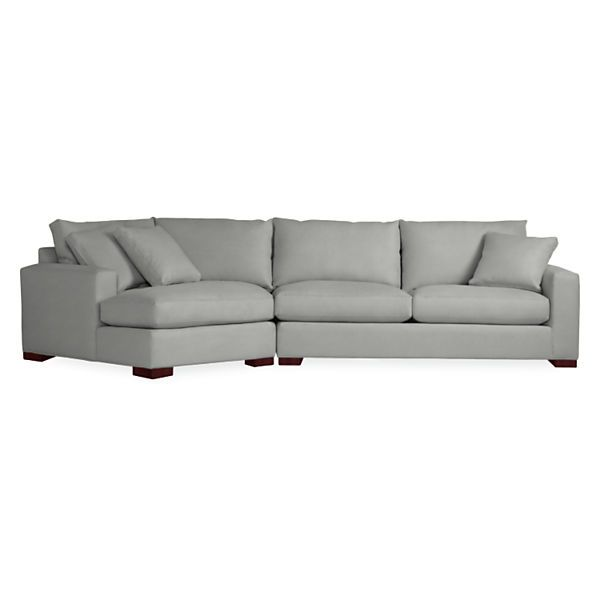 Metro Sofas with Angled Chaise | Modern furniture living room .